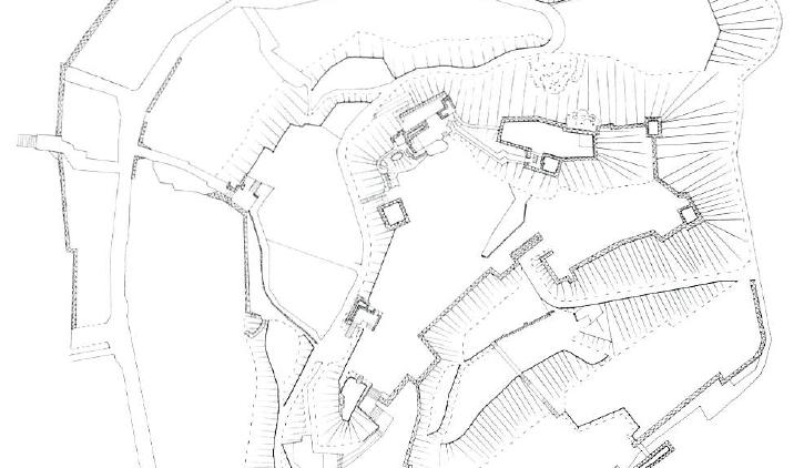 亀岡城縄張図