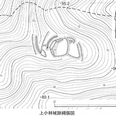 上小林城跡縄張図